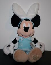 "NWT 19"" MICKEY MOUSE EASTER BUNNY EARS Plush Stuffed Animal Disney Store Rabbit"