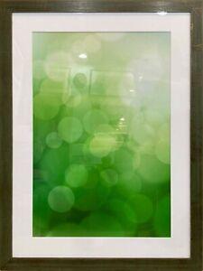 Framed Green Abstract Art