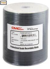 100-Pak CMC PRO (TY Technology) 16X White Inkjet Hub Printable DVD+R's!