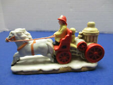 Lefton Colonial Christmas Village Accessory Fire Engine Co #5 Wagon