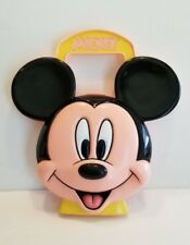 New listing Vintage Mickey Mouse Toy Disney Case Carrier Purse Carry On Blow Mold Plastic