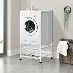 Waschmaschinen-Untergestell Trockner Unterbau Sockel Podest + ausziehbare Ablage