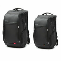 "Waterproof Laptop Notebook Black Backpack +USB Charge Computer Bag for 15""/17"""
