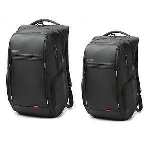 "Anti-theft 15.6""/17.3"" Laptop Notebook Backpack USB Port School Bag Travel,Black"