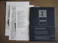 Reparaturanleitung Simson Schwalbe KR51/2  Simson S51 mit elektr. Schaltplan