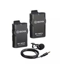 Wireless Microphone Lavalier for Smartphone Camera GoPro, BOYA BY-WM2G Mic fo...