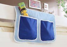 Pochette de rangement pour lit à étage et lit mezzanine Bleu clair-Bleu foncé