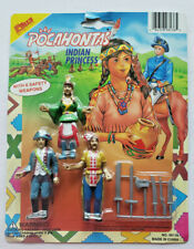 Vintage 1980's Pocahontas Indian Princess Trio with Weapons New Unopened