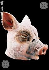 Maschera Maiale Lattice Porcellino Carnevale Adulto Travestimento Animali nuovo