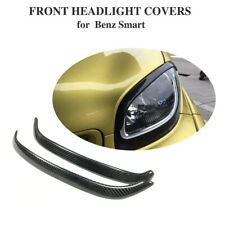 Carbon Fiber Headlight Eyelid Eyebrows Cover For Benz Smart Forfour Fortwo 16-19