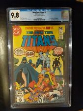 New Teen Titans # 2 CGC 9.8 1st Deathstroke Signed by Wolfman & Perez on page 1