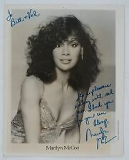 Marilyn McCoo Disco Queen Original Autographed B&W Photograph, Sexy Cleavage