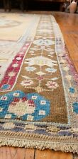 Bohemian Antique Cr1900-1939s Muted Dye Wool Pile Traditional Area Rug 4'x7'