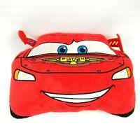 "Disney Pixar Cars Piston Cup Lightning McQueen Plush Pillow Red 13.5""x8.5"""