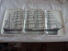 Set of 3 sailing ship trays - brand new