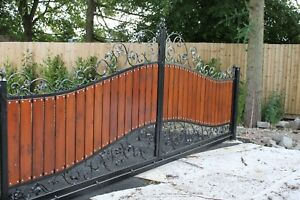 Sliding cantilever driveway gates 16ft, automated NICE Robus