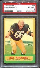1963 Topps #96 Ray Nitschke RC PSA 6 Green Bay Packers HOF