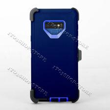 Samsung Galaxy Note 9 Case w/Holster Belt Clip Fits Otterbox Defender Navy Blue