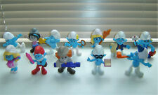JOBLOT OF 12 MCDONALDS SMURF / THE SMURFS HAPPY MEAL TOYS