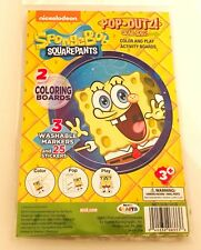 6-SETS- Spongebob Squarepants Color & Play Activity Boards w/Markers & Stickers