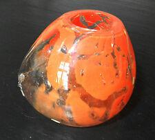 Vase boule bosselé Création Yannick Hoeltzel - Maître verrier plasticien