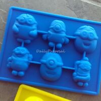Minions Despicable Me Silicone Mold Cookie Ice Jello Pastry Chocolate Candy Soap