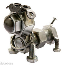 Bolt Dog Hand Crafted Recycled Metal Art Sculpture Figurine