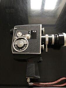 Belle Caméra 8mm Bolex K2 Paillard 1964 avec sacoche de rangement B 58758