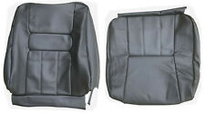 front seat cover upholstery volvo 940 960 sedan wagon black gray leather 1991-95