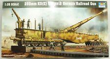 WWII 280mm K5(E) Leopold German Railroad Gun Trumpeter Model Kit 1:35