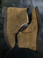 Crockett & Jones Suede Wingtip Boots 9.5E
