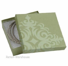 Jewelry Boxes 50 Damask Sage Green Cotton Filled Gift Retail 3 X 3 X 1 33