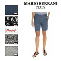Mario Serrani Comfort Stretch Womens Tummy Control Fashion Bermuda Shorts I62