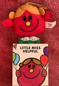 Little Miss Helpful Mcdonalds Mr Men 2021 Soft Toy Bag Tag UK New Box
