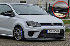 Alerón espada Front alerón labio ABS para VW Polo 6r wrc Abe negro brillante