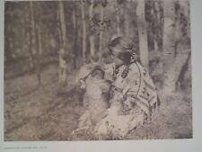 Assiniboin Mother and Child Plains Indians 1972 Original Folio Edward S. Curtis