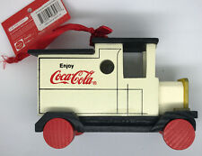 Coca-Cola Retro WoodenTruck Hanging Christmas Ornament - Real Coke Product