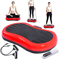 Red Ultrathin Mini Crazy Fit Vibration Platform Massage Machine Fitness Gym
