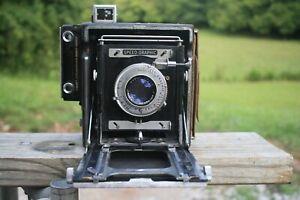 Graflex Speed Graphic 4 1/4 x 3 1/4 Camera w/ Kodak Ektar f4.7 127mm