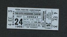 1966 Otis Redding Show Unused Full Concert Ticket Pittsburg Pa Dock Of The Bay