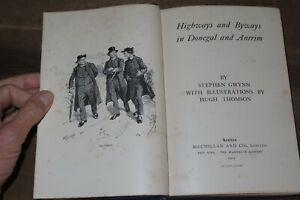 1903 HIGHWAYS & BYWAYS IN DONEGAL & ANTRIM BY GWYNN 87 ENGRAVINGS BY THOMSON *