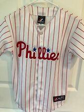 Sports Mem, Cards & Fan Shop Activewear Tops Hearty New Majestic Cool Base Philadelphia Phillies Chase Utley Baseball Jersey Mens Xl
