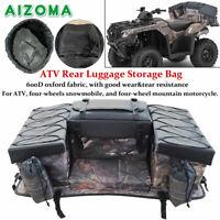 Waterproof ATV Rear Seat Rack Bag Padded Bottom Support Luggage Storage Bags