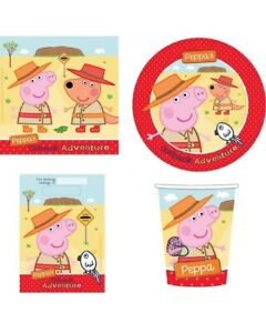 Peppa Pig 40pc Party Pack Setting for 8 - Peppa's Australian Outback Adventure