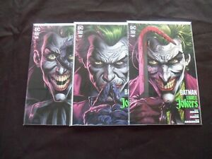2020 Batman: Three Jokers COMPLETE SET of 3 Comics (1-2-3) W/Cards NM/1ST PRINTS