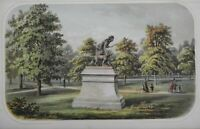 Indian Hunter Bronze Statue Central Park New York City 1869 Valentine print