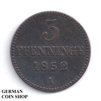 3 Pfennige 1852 - Mecklenburg Schwerin
