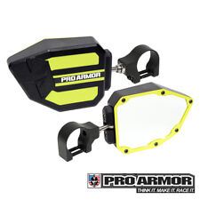 "Pro Armor Universal LIME S Side View Mirrors 1.75"" Clamp Kawasaki Can-am Polaris"