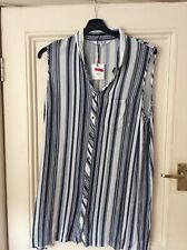 LADIES SLEEVELESS TOP BY THE COLLECTION AT DEBENHAMS SIZE 18