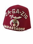 1950's Shriners Za-Ga-Zig Rhinestone Jeweled Ambassador Fez Hat W/Tassel
